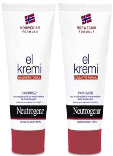 Neutrogena Neutrogena Norveç Formülü Parfümsüz El Kremi 75 ml x 2 Adet Renksiz